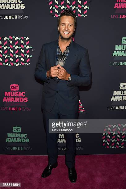 Singersongwriter Luke Bryan attends the 2016 CMT Music awards at the Bridgestone Arena on June 8 2016 in Nashville Tennessee