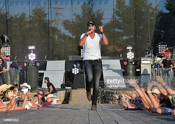 Singer/Songwriter Luke Bryan performs at Country Thunder Day 2 on July 20 2012 in Twin Lakes Wisconsin