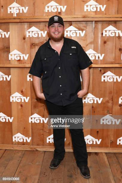 Singersongwriter Luke Combs performs attends the HGTV Lodge during CMA Music Fest on June 11 2017 in Nashville Tennessee