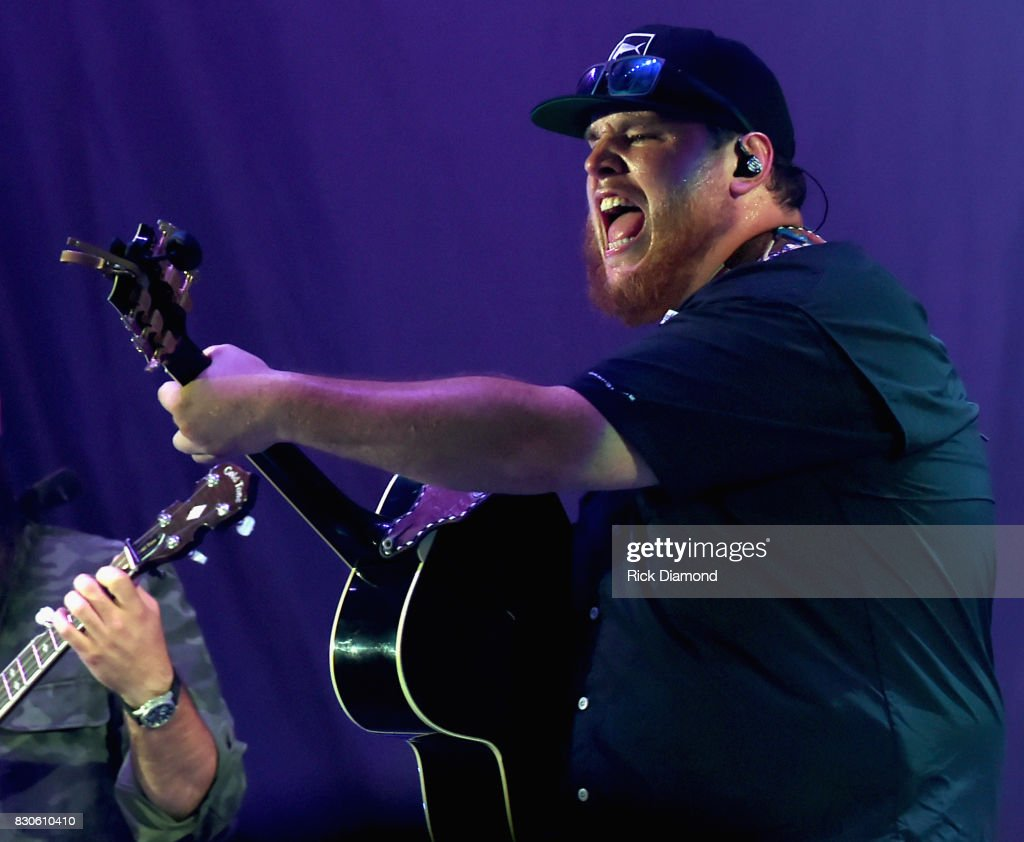 Singer/Songwriter Luke Combs performs during Jason Aldean 2nd Annual Concert For The Kids at Macon Centreplex on August 11, 2017 in Macon, Georgia.