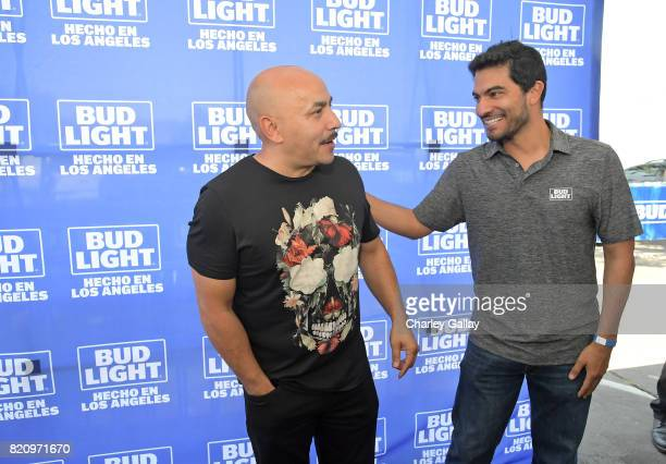 Singersongwriter Lupillo Rivera and Marketing Director for AnheuserBusch West region Jorge Inda Meza partnered with the brand that's famous among...