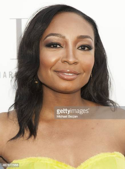 Singer/Songwriter Malina Moye attends Harlem's Fashion Row Style Beat In LA on February 6 2015 in Los Angeles California