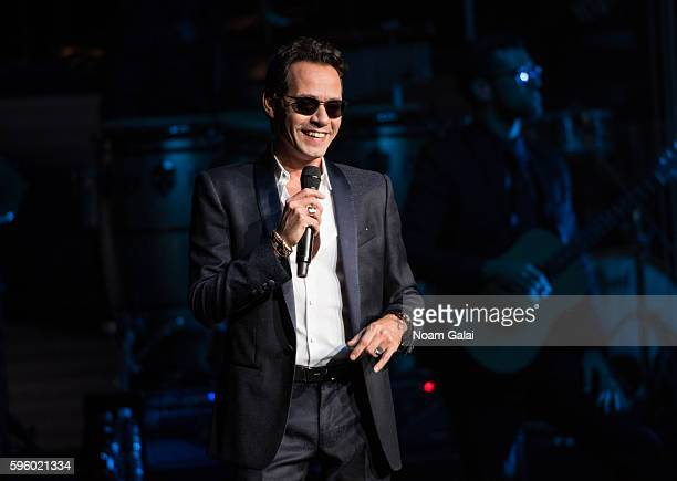 Singersongwriter Marc Anthony performs in concert at Radio City Music Hall on August 26 2016 in New York City