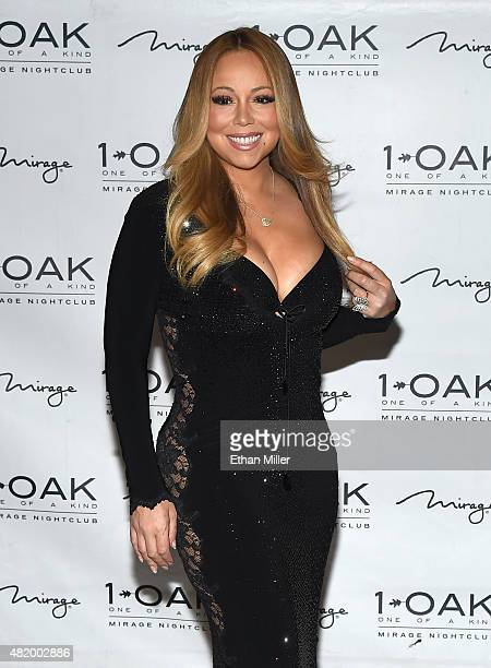 Singer/songwriter Mariah Carey arrives at 1 OAK Nightclub at the Mirage Hotel Casino on July 26 2015 in Las Vegas Nevada