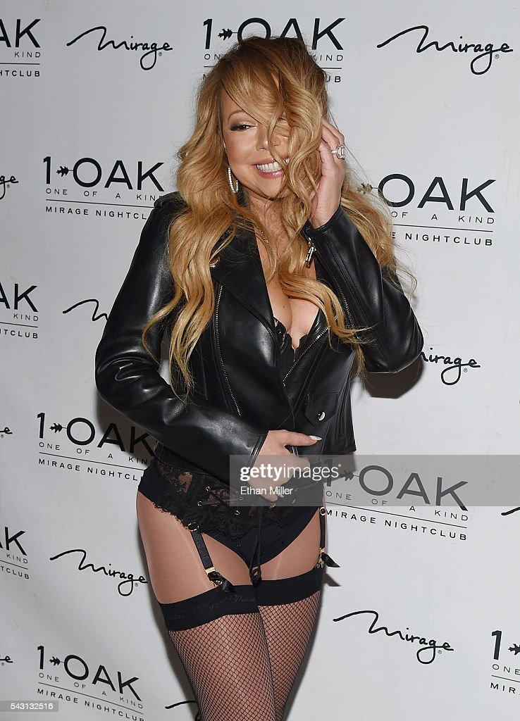 Singer/songwriter Mariah Carey arrives at 1 OAK Nightclub at the Mirage Hotel & Casino to debut her DJ set on June 26, 2016 in Las Vegas, Nevada.