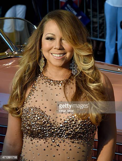 Singer/songwriter Mariah Carey arrives at Caesars Palace to launch her residency 'MARIAH TO INFINITY' on April 27 2015 in Las Vegas Nevada The show...