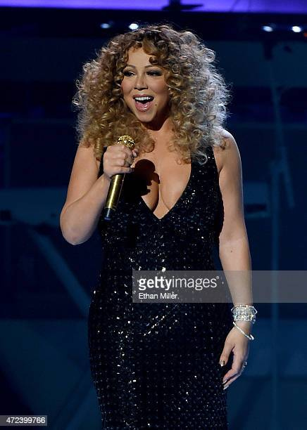 Singer/songwriter Mariah Carey performs during the launch of her residency 'MARIAH TO INFINITY' at The Colosseum at Caesars Palace on May 6 2015 in...