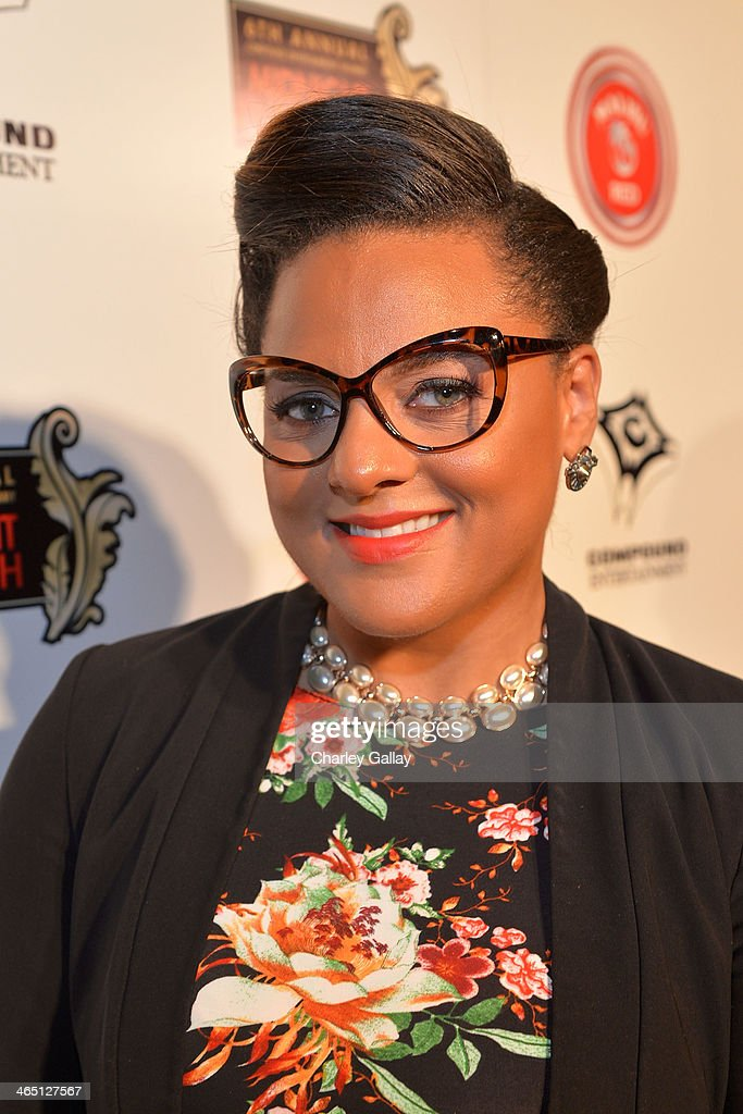Singer/songwriter Marsha Ambrosius attends the annual Midnight Grammy Brunch hosted by Ne-Yo and Malibu Red at Lure Nightclub on January 26, 2014 in Hollywood, California.
