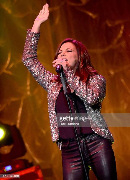 Singer/Songwriter Martina McBride perfoms at St Jude Country Music Marathon Half Marathon Toyota RocknRoll Marathon Concert Series at Bridgestone...