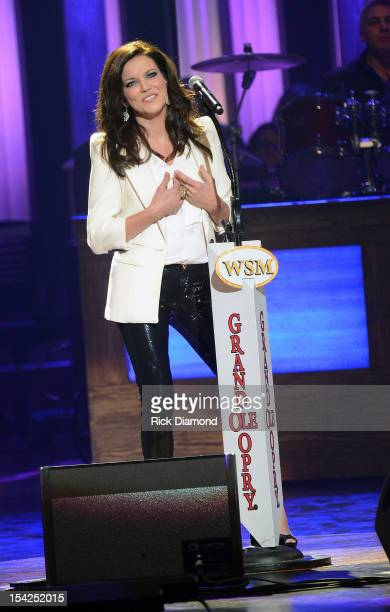 Singer/Songwriter Martina McBride performs at Darius Rucker's induction into The Grand Ole Opry on October 16 2012 in Nashville Tennessee