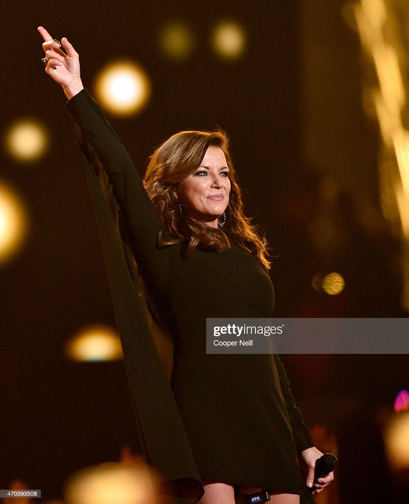 Singersongwriter Martina McBride performs onstage during the 50th Academy Of Country Music Awards at ATT Stadium on April 19 2015 in Arlington Texas