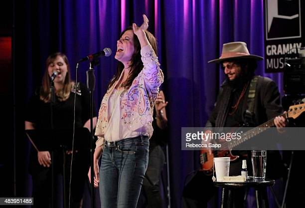 Singer/songwriter Martina McBride performs with musician/producer Don Was at The Drop Martina McBride at The GRAMMY Museum on April 10 2014 in Los...
