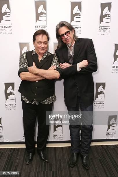 Singer/songwriter Marty Balin and Vice President of the GRAMMY Foundation Scott Goldman attend An Evening With Marty Balin at The GRAMMY Museum on...