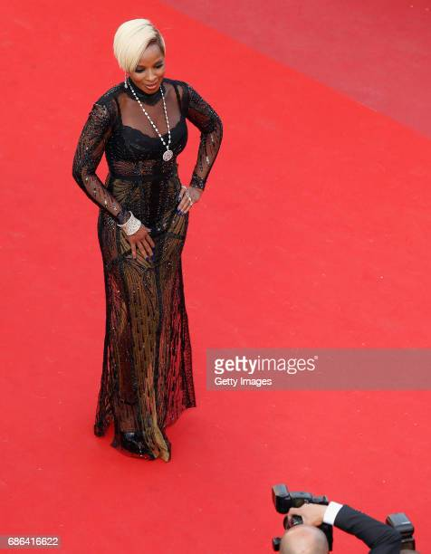 Singer/songwriter Mary J Blige attends 'The Meyerowitz Stories' premiere during the 70th annual Cannes Film Festival at Palais des Festivals on May...