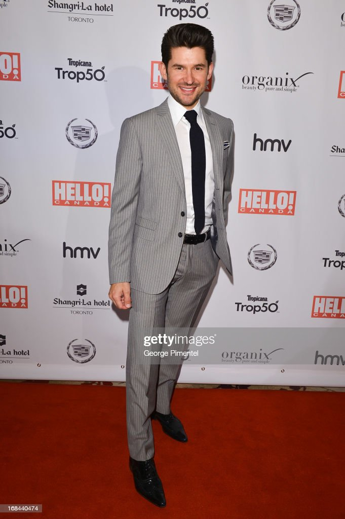 Singer/songwriter <a gi-track='captionPersonalityLinkClicked' href=/galleries/search?phrase=Matt+Dusk&family=editorial&specificpeople=2499967 ng-click='$event.stopPropagation()'>Matt Dusk</a> arrives at the Hello! Canada gala celebrating Canada's 50 Most Beautiful at Shangri-La Hotel on May 9, 2013 in Toronto, Canada.
