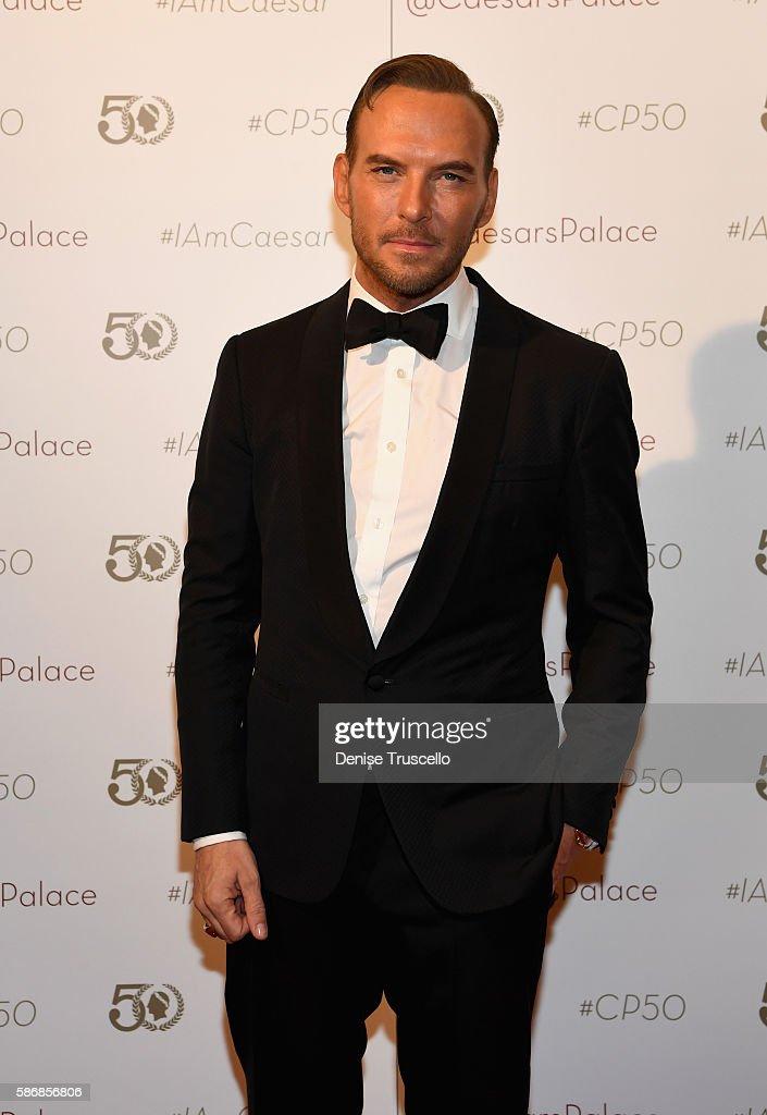 Singer/songwriter Matt Goss arrives at Caesars Palace during the resort's 50th anniversary gala on August 6 2016 in Las Vegas Nevada