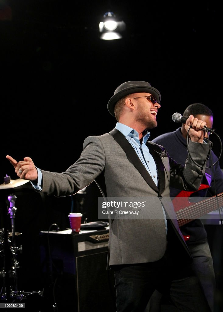 Singersongwriter Matt Goss performs for a Biz Session recording in Wapping on October 28 2010 in London England