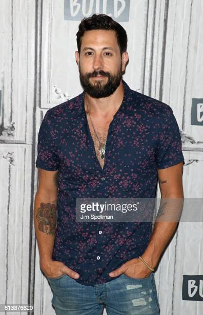 Singer/songwriter Matthew Ramsey of Old Dominion attend Build to discuss the Band's new album 'Happy Endings' at Build Studio on July 12 2017 in New...