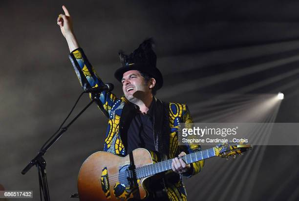 Singer/songwriter Matthieu Chedid M performs during the 70th annual Cannes Film Festival at on May 21 2017 in Cannes France