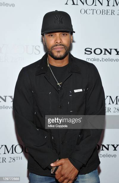 Singer/songwriter Maxwell attends the 'Anonymous' screening at the The Museum of Modern Art on October 20 2011 in New York City