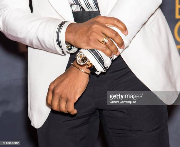 Singersongwriter Maxwell jewelry detail attends Black Girls Rock 2017 at New Jersey Performing Arts Center on August 5 2017 in Newark New Jersey