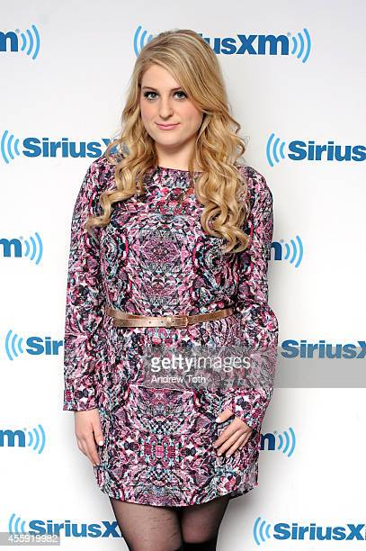 Singersongwriter Meghan Trainor visits SiriusXM Studios on September 22 2014 in New York City