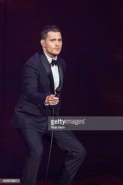 Singersongwriter Michael Bublé performs in concert at the Frank Erwin Center on August 3 2014 in Austin Texas