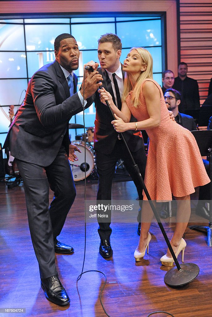 MICHAEL -4/25/13 - Singer-songwriter MICHAEL BUBLÉ performs on 'LIVE with Kelly and Michael,' distributed by Disney-ABC Domestic Television. MICHAEL