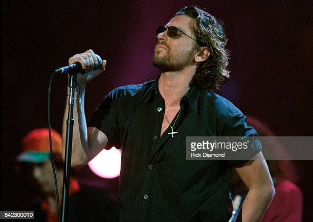 Singer/Songwriter Michael Hutchence of INXS Elvis The Tribute at The Pyramid Arena in Memphis Tennessee October 08 1994