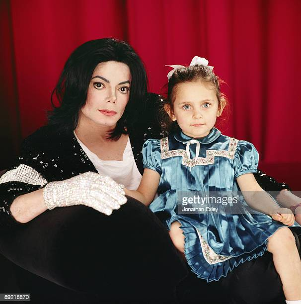 Singer/Songwriter Michael Jackson and daughter Paris Michael Katherine Jackson photographed at Neverland Ranch Vibe Magazine on December 17 2001