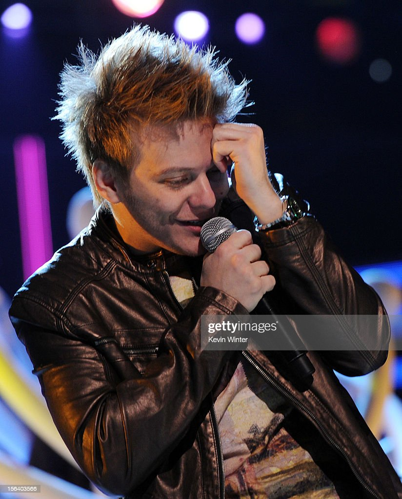 Singer/songwriter Michel Telo performs onstage during rehearsals for the 13th annual Latin GRAMMY Awards at the Mandalay Bay Events Center on November 14, 2012 in Las Vegas, Nevada.