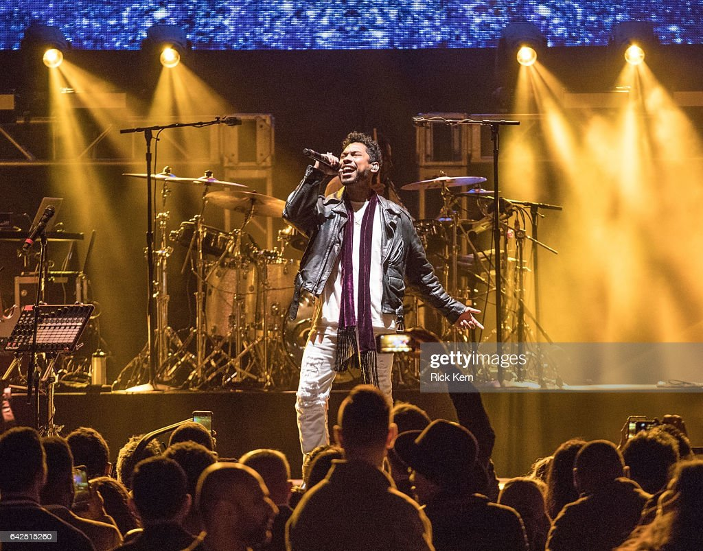 Singer-songwriter Miguel performs onstage during the VIBES by Sports Illustrated Swimsuit 2017 launch festival at Post HTX on February 17, 2017 in Houston, Texas.