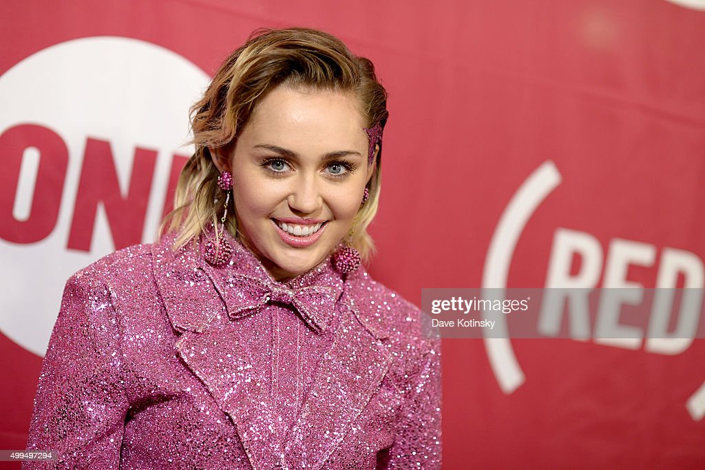 Singer-songwriter <a gi-track='captionPersonalityLinkClicked' href=/galleries/search?phrase=Miley+Cyrus&family=editorial&specificpeople=3973523 ng-click='$event.stopPropagation()'>Miley Cyrus</a> attends the ONE Campaign and (RED)'s concert to mark World AIDS Day, celebrate the incredible progress that's been made in the fights against extreme poverty and HIV/AIDS, and to honor the extraordinary leaders, dedicated activists, and passionate partners who have made that progress possible. At Carnegie Hall on December 1, 2015 in New York City.