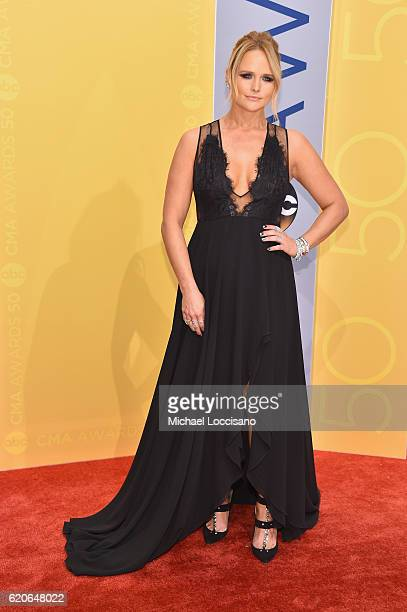 Singersongwriter Miranda Lambert attends the 50th annual CMA Awards at the Bridgestone Arena on November 2 2016 in Nashville Tennessee