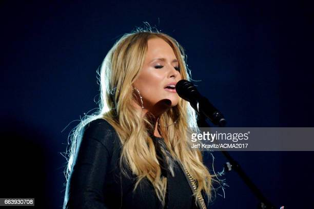 Singersongwriter Miranda Lambert performs onstage at the 52nd Academy Of Country Music Awards at TMobile Arena on April 2 2017 in Las Vegas Nevada