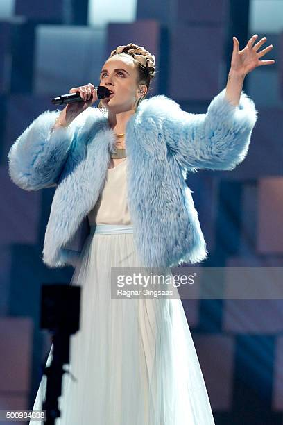 Singer/songwriter Mo performs during Nobel Peace Prize concert at Telenor Arena on December 11 2015 in Oslo Norway