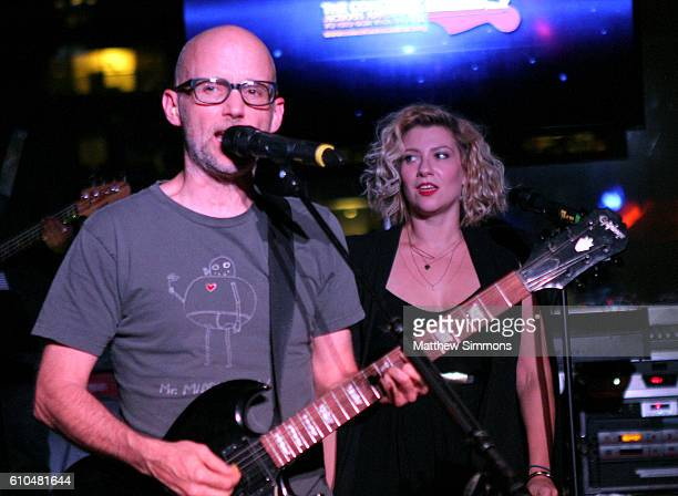 Singersongwriter Moby performs onstage at The Concert Across America To End Gun Violence at The Standard Hotel on September 25 2016 in Los Angeles...