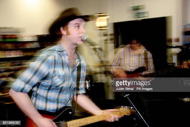 Singer/songwriter Mundy performs in front of fans at HMV Grafton Street Dublin