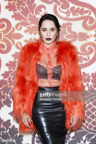 Singersongwriter musician disc jockey record producer and TV hostess Paola Pezzi cofounder of the duo Paola Chiara and later soloist during a...