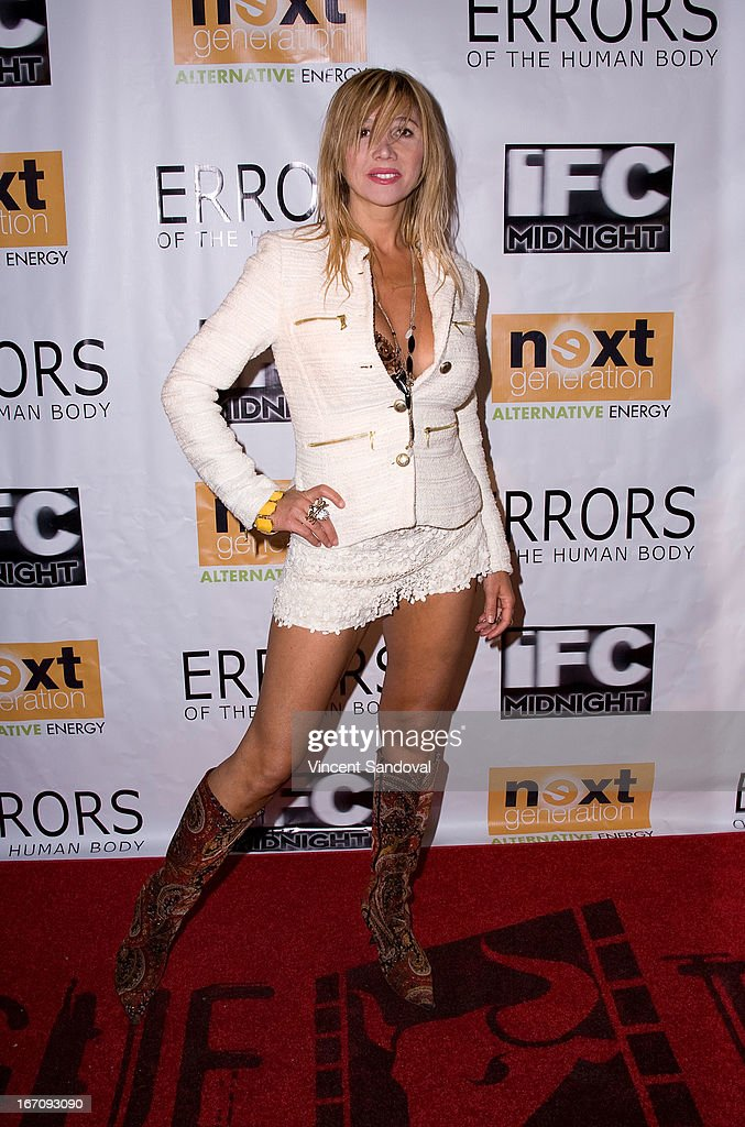 Singer-songwriter Nadeea attends the Los Angeles special screening of 'Errors Of The Human Body' at Arena Cinema Hollywood on April 19, 2013 in Hollywood, California.
