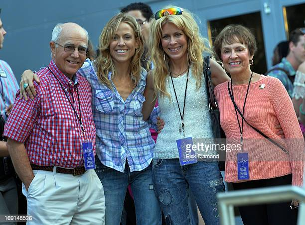 Singer/Songwriter Nashville Resident Sheryl Crow with her family Wendell Crow Sheryl Kathy Crow and Bernice Crow at The Music City Center Grand...