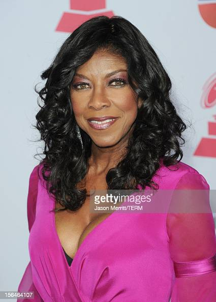 Singer/songwriter Natalie Cole arrives at the 13th annual Latin GRAMMY Awards held at the Mandalay Bay Events Center on November 15 2012 in Las Vegas...