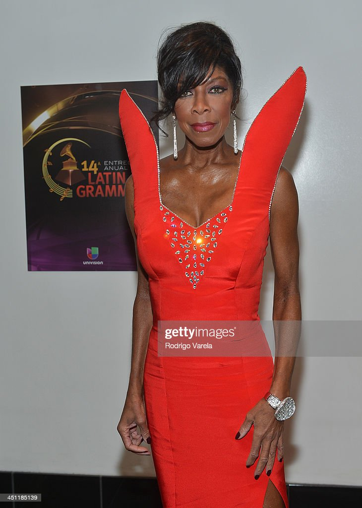 Singer/songwriter <a gi-track='captionPersonalityLinkClicked' href=/galleries/search?phrase=Natalie+Cole&family=editorial&specificpeople=201839 ng-click='$event.stopPropagation()'>Natalie Cole</a> attends The 14th Annual Latin GRAMMY Awards at the Mandalay Bay Events Center on November 21, 2013 in Las Vegas, Nevada.