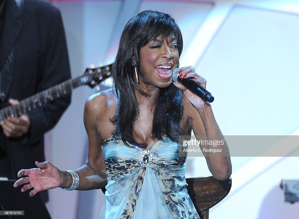 Singer/songwriter <a gi-track='captionPersonalityLinkClicked' href=/galleries/search?phrase=Natalie+Cole&family=editorial&specificpeople=201839 ng-click='$event.stopPropagation()'>Natalie Cole</a> performs onstage during the 21st annual Race to Erase MS at the Hyatt Regency Century Plaza on May 2, 2014 in Century City, California.