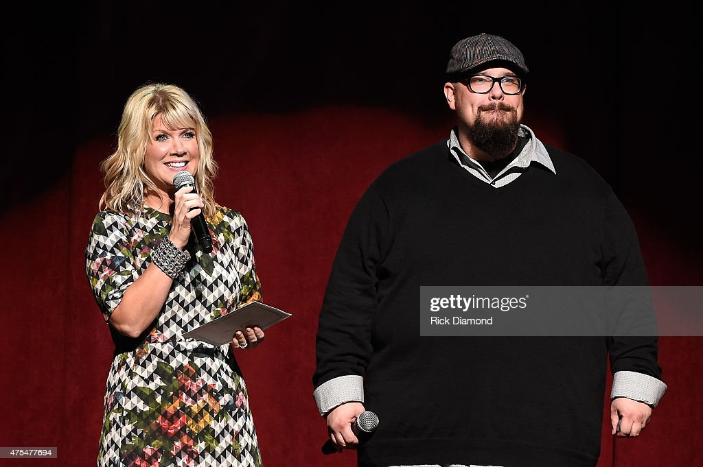 Singersongwriter Natalie Grant and Mike Weaver of Big Daddy Weave speak onstage during the 3rd Annual KLOVE Fan Awards at the Grand Ole Opry House on...