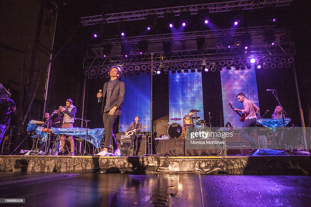 Singer-songwriter <a gi-track='captionPersonalityLinkClicked' href=/galleries/search?phrase=Nate+Ruess&family=editorial&specificpeople=6897270 ng-click='$event.stopPropagation()'>Nate Ruess</a> of the indie rock band fun. performs during the 2013 Allstate fan fest at the Allstate Sugar Bowl in the Jax Brewery Parking Lot on January 1, 2013 in New Orleans, Louisiana.