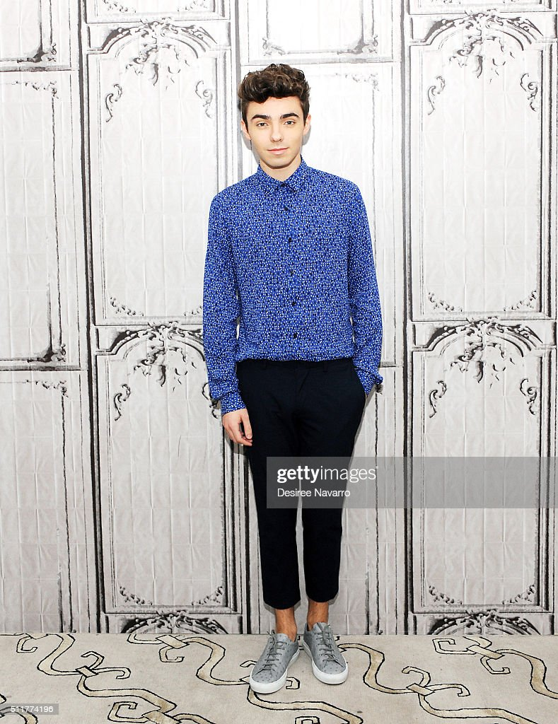 Singer-songwriter Nathan Sykes of the British boy band The Wanted attends AOL Build Speaker Series to talk about his career as a solo artist and his new single 'Over and Over Again' at AOL Studios In New York on February 22, 2016 in New York City.