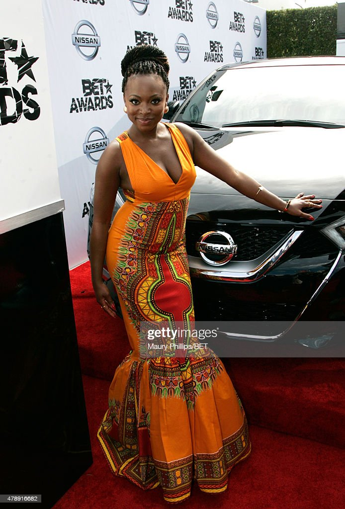 Singersongwriter Naturi Naughton attends the Nissan red carpet during the 2015 BET Awards at the Microsoft Theater on June 28 2015 in Los Angeles...