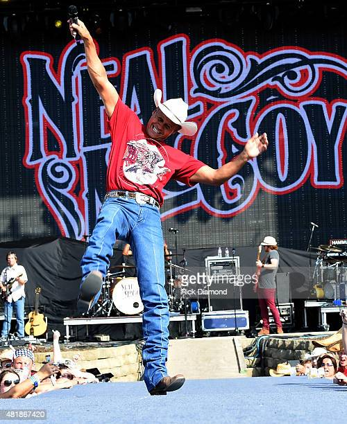 Singer/Songwriter Neal McCoy performs at Country Thunder In Twin Lakes Wisconsin Day 2 on July 24 2015 in Twin Lakes Wisconsin