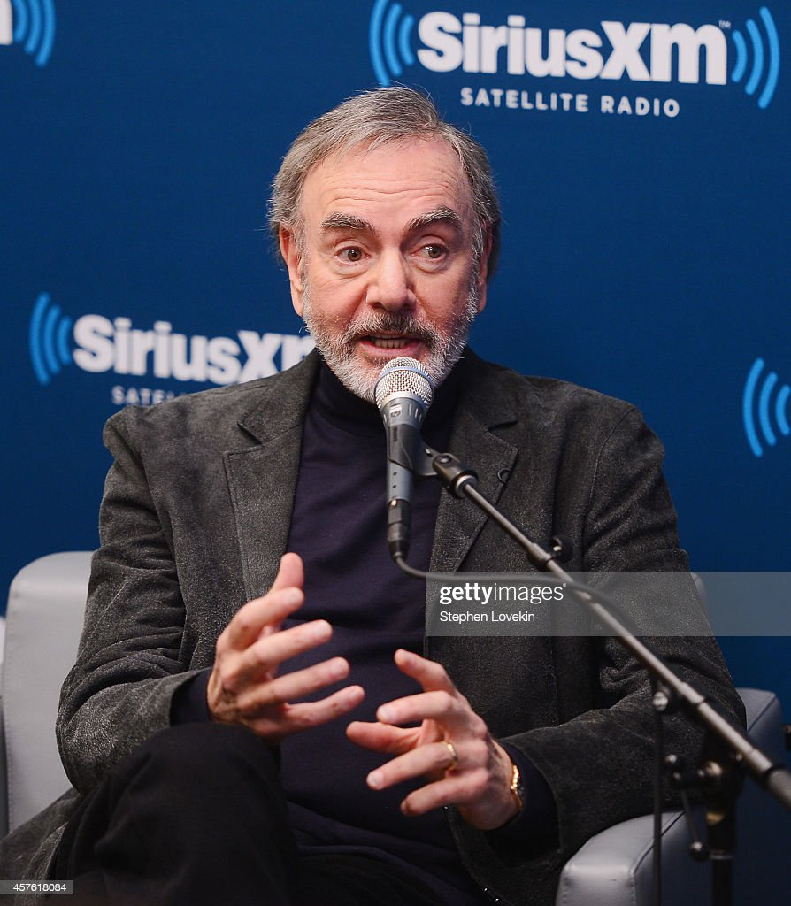Singer/songwriter Neil Diamond attends SiriusXM's 'Town Hall' with Neil Diamond hosted by Cousin Brucie On SiriusXM's Neil Diamond Radio at SiriusXM Studios on October 21, 2014 in New York City.